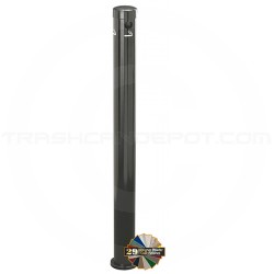 "Glaro 4406 Deluxe Surface Mount Smokers Pole - 3 1/2"" Dia. x 42"" H - Assorted Colors"