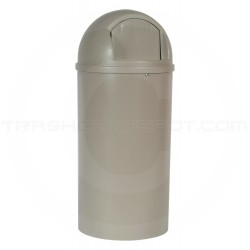 """Rubbermaid 8170-88 Marshal Classic Trash Can - 25 Gallon Capacity - 18"""" Dia. x 42"""" H - Beige in Color"""