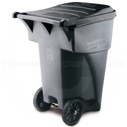 Rubbermaid FG9W2200GRAY BRUTE Rollout Container - 95 Gallon Capacity - Gray in Color