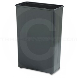 """Rubbermaid / United Receptacles FGWB96RBK Tall Rectangular Wastebasket -  96 quart capacity - 1 Pack of 3 - 21"""" L x 11"""" W x 30"""" H - Black in Color"""