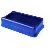 "Rubbermaid FG267360BLUE Slim Jim Swing Top Lid for Slim Jim Containers - 20 1/2"" L x 11 3/8"" W x 5"" H - Blue in Color"