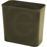 """Continental 2927BN Fire Resistant Wastebasket - 27 5/8 Quart Capacity - 16"""" W x 8 1/2"""" L x 14"""" H - Brown in Color"""