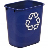"""Rubbermaid 2955-73 Recycle Wastebasket - 13 5/8 Quart Capacity - 11 3/8"""" L x 8 1/4"""" W x 12 1/8"""" H - Blue in Color"""