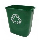 """Rubbermaid 2956-06 Recycling Wastebasket - 28 1/8 Quart Capacity - 14 3/8"""" L x 10 1/4"""" W x 15"""" H - Green in Color"""