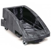 "Rubbermaid FG355188BLA Slim Jim Trolley for 3540, 3541 and 3554 Containers - 23 1/2"" L x 15"" W x 10 7/8"" H - Black in Color"