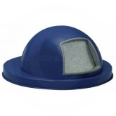 """Witt Industries 5555DB Dome Top Lid - 23 1/2"""" Dia. x 11 5/8"""" H - Dark Blue in Color"""