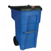 Rubbermaid FG9W2173BLUE BRUTE Rollout Container - 65 Gallon Capacity - Blue in Color