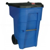 Rubbermaid FG9W2273BLUE BRUTE Rollout Container - 95 Gallon Capacity - Blue in Color