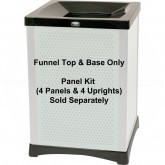 "Rubbermaid 9W37 Infinity Square Funnel Top Frame - 23 1/2"" Sq. x 33-39"" H - Black in Color"