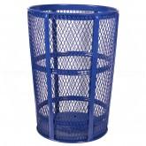 "Witt Industries EXP-52BL Powder Coated Steel Mesh Street Basket - 48 U.S Gallon - 23"" Dia. x 33"" H - Blue in Color"