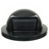 "Industries SC55DT Dome Top Lid for the 55 Gallon Stadium Series Receptacles - 24 3/4""  Dia. x 12"" H - Black in Color"
