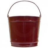 """Witt Industries W10PC Powder Coated Metal Pail - 10 Quart Capacity - 10 1/4"""" Dia. x 9 1/4"""" H - 1 pack of 8 - Your choice of color"""