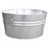 "Witt Industries W14200 Light Duty Pregalvanized Metal Tub - 15 Gallon Capacity - 21 1/2"" Dia. x 10 3/4"" H"