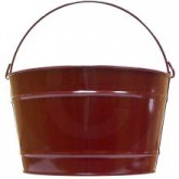 """Witt Industries W16PC Powder Coated Metal Pail - 16 Quart Capacity - 14"""" Dia. x 8 1/4"""" H - 1 pack of 8 - Your choice of color"""
