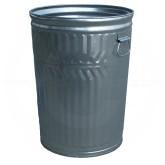 "Witt Industries WCD20C Light Duty Galvanized Metal Trash Can - 20 Gallon Capacity - 17 1/2"" Dia. x 23"" H"