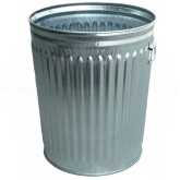 "Witt Industries WCD24C Light Duty Galvanized Metal Trash Can - 24 Gallon Capacity - 19 1/2"" Dia. x 23 1/2"" H"