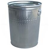 "Witt Industries WCD32C Light Duty Galvanized Metal Trash Can - 32 Gallon Capacity - 21 1/4"" Dia. x 26 1/4"" H"