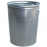 "Witt Industries WHD32C Heavy Duty Galvanized Metal Trash Can - 32 Gallon Capacity - 21 1/4"" Dia. x 26 1/4"" H"