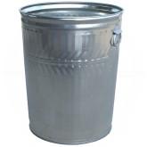 "Witt Industries WMD32C Medium Duty Galvanized Metal Trash Can - 32 Gallon Capacity - 21 1/4"" Dia. x 26 1/4"" H"