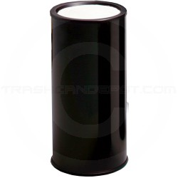 "Rubbermaid / United Receptcle 1000EBK Econo Line Sand Top Urn - 10"" Dia. x 20"" H - Black in Color"