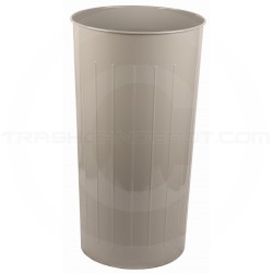 "Witt Industries 10SL Tall Round Wastebasket - 80 quart capacity - 16"" Dia. x 29"" H - Slate in Color"