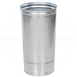 "Witt Industries 12DTL Replacement Galvanized Liner for 12 Gallon Dome Top Receptacle - 14"" Dia. x 22"" H - 12 Gallon Capacity"
