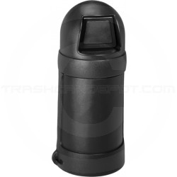"""Continental 1425BK Round Top Trash Can - 24 Gallon Capacity - 18"""" Dia. x 41 1/2"""" H - Black in Color"""