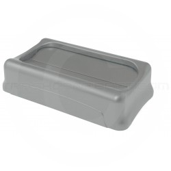 "Rubbermaid FG267360GRA Slim Jim Swing Top Lid for Slim Jim Containers - 20 1/2"" L x 11 3/8"" W x 5"" H - Gray in Color"