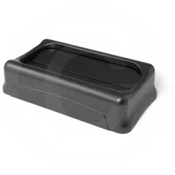 "Rubbermaid FG267360BLA Slim Jim Swing Top Lid for Slim Jim Containers - 20 1/2"" L x 11 3/8"" W x 5"" H - Black in Color"