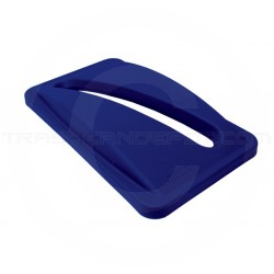"""Rubbermaid FG270388BLUE Slim Jim Paper Recycling Top for Slim Jim Containers - 20 1/2"""" L x 11 1/2"""" W x 2 3/4"""" H - Blue in Color"""