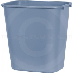 """Continental 2818GY Rectangular Plastic Wastebasket - 28 1/8 Quart Capacity - 14 1/2"""" W x 10 1/2"""" D x 15"""" H - Gray in Color"""
