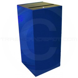 """Witt Industries 32MSR-BL Confidential Waste Receptacle  - 32 Gallon Capacity - 15"""" Sq. x 32"""" H - Blue in Color"""