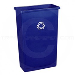 "Rubbermaid FG354028BLUE Slim Jim Recycling Container - 23 Gallon Capacity - 20"" L x 11"" W x 30"" H - Blue in Color"