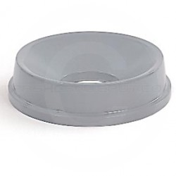 "Rubbermaid FG354800GRAY Untouchable Round Funnel Top for 2947, 3546 Containers - 16 1/4"" Dia. x 5"" H - Gray in Color"