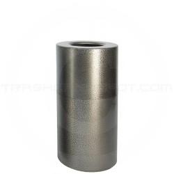 "Witt Industries AL18-SVN Stadium Series Aluminum Open Top Trash Can - 24 Gallon Capacity - 15"" Dia. x 30 1/2"" H - Silver Vein in Color"