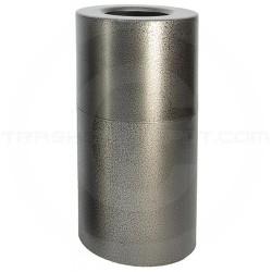 "Witt Industries AL35-SVN Stadium Series Aluminum Open Top Trash Can - 35 Gallon Capacity - 18"" Dia. x 32 1/4"" H - Silver Vein in Color"