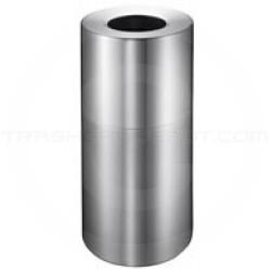 Imprezza ALMO12 Aluminum Open Top Trash Can - 12 Gallon Capacity - Satin Aluminum