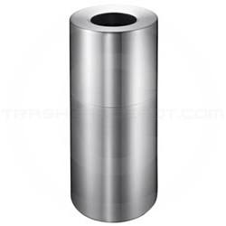 Imprezza ALMO18 Aluminum Open Top Garbage Can - 18 Gallon Capacity - Satin Aluminum