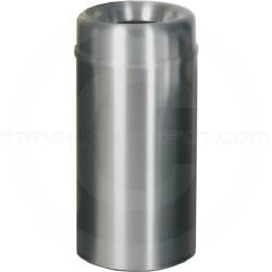 "Rubbermaid AOT15SA - Crowne Collection Small Open Top Trash Receptacle - 15 Gallon Capacity - 15"" Dia. x 30"" H - Satin Aluminum"