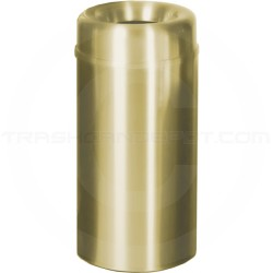 "Rubbermaid AOT15SB - Crowne Collection Small Open Top Trash Receptacle - 15 Gallon Capacity - 15"" Dia. x 30"" H - Satin Brass"
