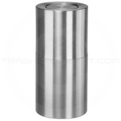 "Rubbermaid ATF18SA Flip Top Waste Receptacle - 18 Gallon Capacity - 14"" Dia. x 27"" H - Satin Aluminum"