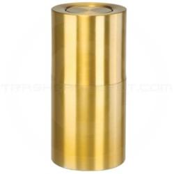 "Rubbermaid ATF18SB Flip Top Waste Receptacle - 18 Gallon Capacity - 14"" Dia. x 27"" H - Satin Brass"