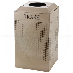 Rubbermaid FGDCR24TDP Silhouette Recycling Receptacle - Trash - 29 Gallon Capacity - Desert Pearl in Color