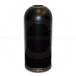 "Imprezza DOT15BKGL Bullet Dome Open Top Waste Can - 15 Gallon Capacity - 15"" Dia. x 35 1/2"" H - Black in Color"