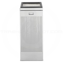 """Rubbermaid SCSUSS Designer Line Silhouette Sand Top Urn - 10 3/4"""" Sq. x 26"""" H - Stainless Steel"""
