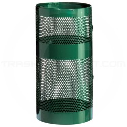"Rubbermaid / United Receptacle H9N Perforated Steel Freestanding Park Basket - 22 Gallon Capacity - 15"" Dia. x 30"" H"