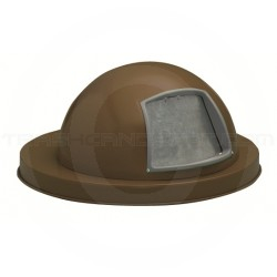 "Witt Industries M3601-DTL-BN Dome Top Lid - 23 1/2"" Dia. x 11 5/8"" H - Brown in Color"