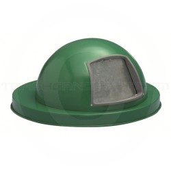 """Witt Industries M2401-DTL-GN Dome Top Lid - 19"""" Dia. x 10 1/8"""" H - Green in Color"""