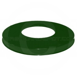 """Witt Industries M3601-FTL-GN Flat Top Lid - 23 1/2"""" Dia. x 2 1/8"""" H - Green in Color"""
