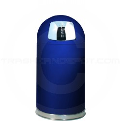 "Rubbermaid / United Receptacle R1530E Econo Line Bullet Trash Can - 12 Gallon Capacity - 15"" Dia. x 30"" H - Cobalt Blue in Color"